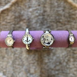 Lot of 4 Watches For Restore Repair or Parts Timex